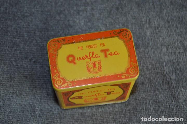 Cajas y cajitas metálicas: ANTIGUA CAJA / CAJITA DE HOJALATA - QUERFLA TEA - THE PUREST TEA - PRECIOSA Y VINTAGE - HAZ OFERTA - Foto 3 - 193231907