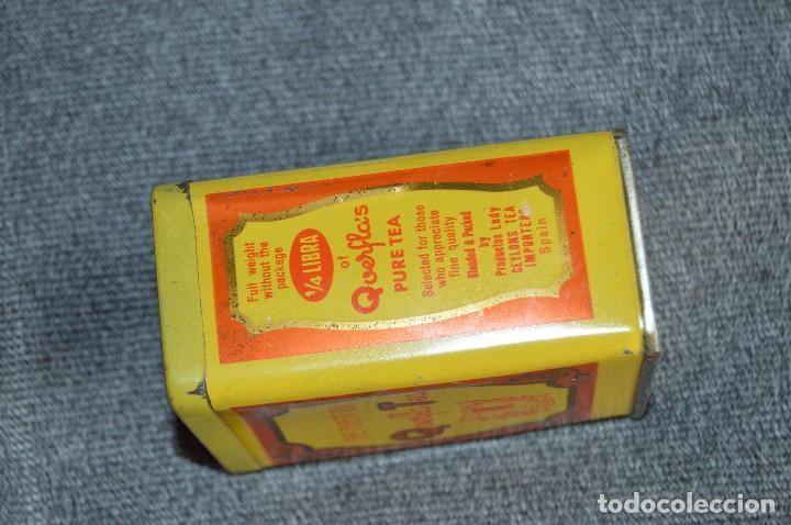 Cajas y cajitas metálicas: ANTIGUA CAJA / CAJITA DE HOJALATA - QUERFLA TEA - THE PUREST TEA - PRECIOSA Y VINTAGE - HAZ OFERTA - Foto 5 - 193231907