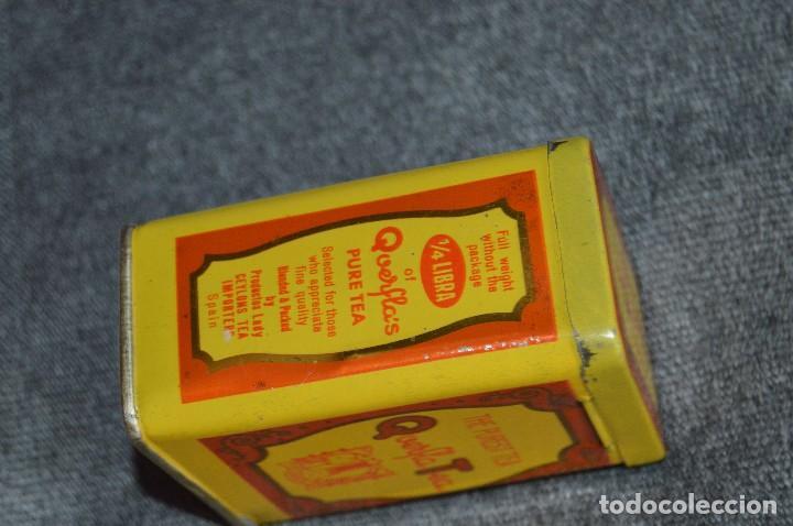 Cajas y cajitas metálicas: ANTIGUA CAJA / CAJITA DE HOJALATA - QUERFLA TEA - THE PUREST TEA - PRECIOSA Y VINTAGE - HAZ OFERTA - Foto 6 - 193231907