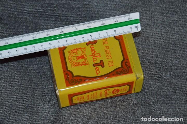 Cajas y cajitas metálicas: ANTIGUA CAJA / CAJITA DE HOJALATA - QUERFLA TEA - THE PUREST TEA - PRECIOSA Y VINTAGE - HAZ OFERTA - Foto 8 - 193231907