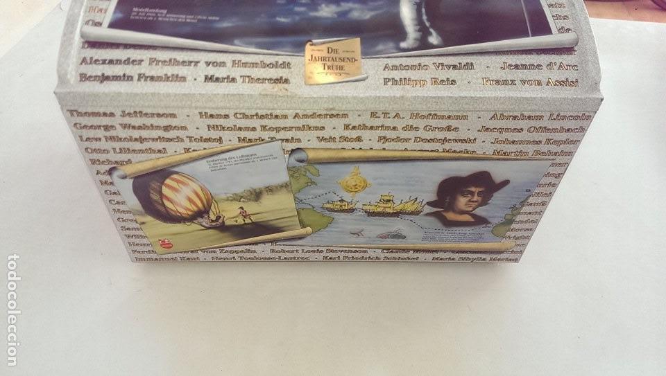 Cajas y cajitas metálicas: Excepcional caja baul metalica edicion limitada grandes personajes, Colon, Leonardo da Vinci, musico - Foto 2 - 107869311