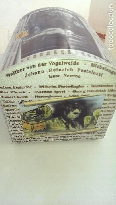 Cajas y cajitas metálicas: Excepcional caja baul metalica edicion limitada grandes personajes, Colon, Leonardo da Vinci, musico - Foto 3 - 107869311