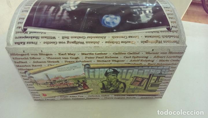 Cajas y cajitas metálicas: Excepcional caja baul metalica edicion limitada grandes personajes, Colon, Leonardo da Vinci, musico - Foto 4 - 107869311