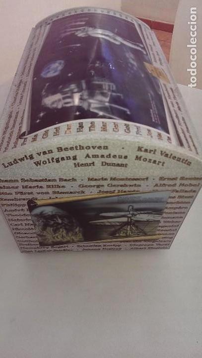 Cajas y cajitas metálicas: Excepcional caja baul metalica edicion limitada grandes personajes, Colon, Leonardo da Vinci, musico - Foto 5 - 107869311