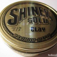 Cajas y cajitas metálicas: CAJA CAJITA METALICA SHINER GOLD CLAY TIME TO STYLE MADE IN THE U.S.A MAXIMUN MATTE. Lote 108083359