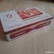 Cajas y cajitas metálicas: CAJA METÁLICA GALLETAS BRONTE 500G VACÍA. Lote 108707775