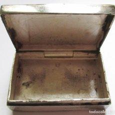 Cajas y cajitas metálicas: PASTILLERO DE PLATA - RECTANGULAR - Nº 08 - PATINA. Lote 109296983