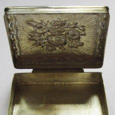 Cajas y cajitas metálicas: PASTILLERO DE PLATA - RECTANGULAR - Nº 09 - PATINA. Lote 109297179