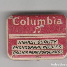 Cajas y cajitas metálicas: LATA DE AGUJAS PARA FONOGRAFO-COLUMBIA-CON AGUJAS. Lote 109487323