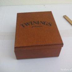 Cajas y cajitas metálicas: CAJA DE MADERA PARA GUARDAR EL TÉ TWININGS OF LONDON.. Lote 109905775