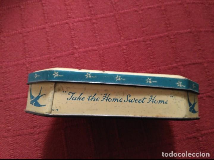 Cajas y cajitas metálicas: antigua caja de lata toffee blue bird england - Foto 3 - 110124879