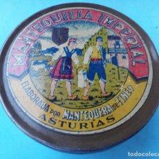 Cajas y cajitas metálicas - CAJA PUBLICIDAD MANTEQUILLA IMPERIAL , LA ANTIGUA , ASTURIAS , ORIGINAL - 110227143