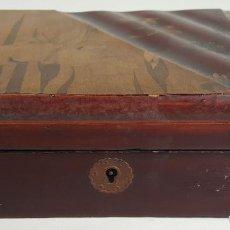 Cajas y cajitas metálicas: CAJA DE MADERA LACADA. CHINA. MOTIVOS FLORALES. SIGLO XX. . Lote 110272095