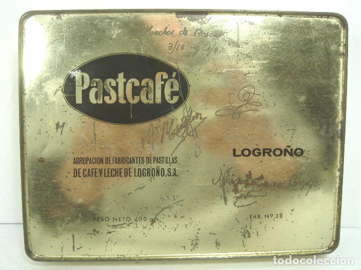 Cajas y cajitas metálicas: CAJA LATA - PASTCAFE LOGROÑO - 400 GRS- PASTILLAS CAFE Y LECHE - FAB. Nº 38-PAST CAFE -BOTE METALICA - Foto 5 - 125986235