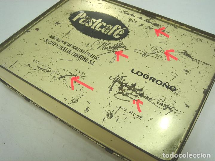 Cajas y cajitas metálicas: CAJA LATA - PASTCAFE LOGROÑO - 400 GRS- PASTILLAS CAFE Y LECHE - FAB. Nº 38-PAST CAFE -BOTE METALICA - Foto 6 - 125986235
