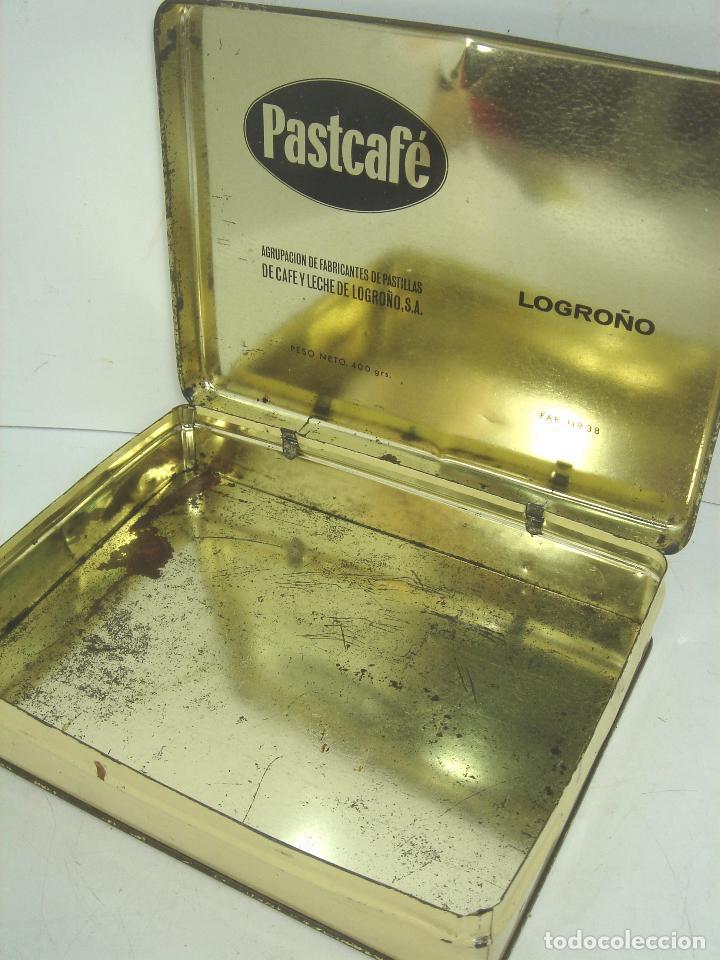 Cajas y cajitas metálicas: CAJA LATA - PASTCAFE LOGROÑO - 400 GRS- PASTILLAS CAFE Y LECHE - FAB. Nº 38-PAST CAFE -BOTE METALICA - Foto 7 - 125986235