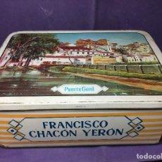 Cajas y cajitas metálicas: CAJA DE MEMBRILLO PUENTE GENIL FRANCISCO CHACON YERON. Lote 110768111