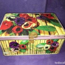 Cajas y cajitas metálicas: CAJA DE FLORES DE COLA CAO . Lote 110768207