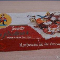 Cajas y cajitas metálicas: CAJA O ENVASE DE CARTÓN MANTECADOS SAN RAFAEL DE OSUNA SEVILLA - CAJA VACIA. Lote 110788735