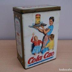 Cajas y cajitas metálicas: LATA CAJA METÁLICA COLA-CAO DE 1.500 GRAMOS NUTREXPA CAFE COLOR MARRÓN. Lote 110792599