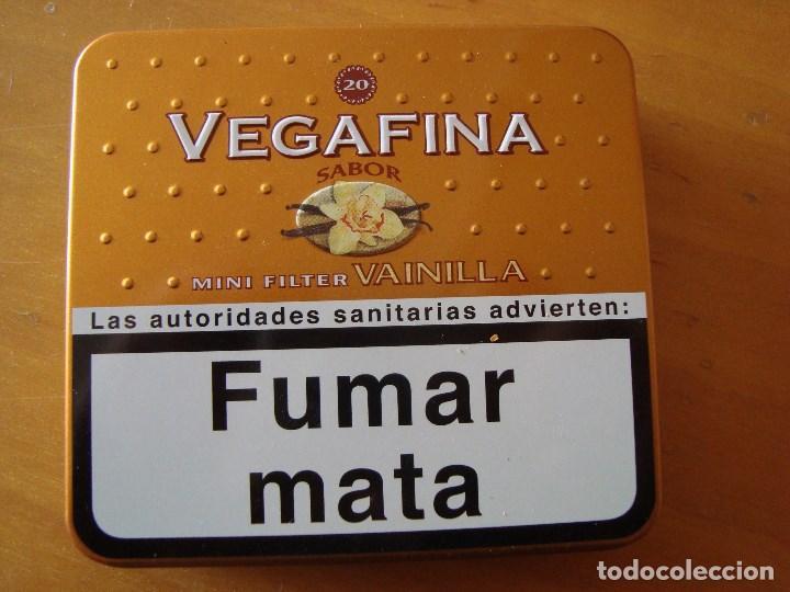 CAJA METALICA TABACO VEGAFINA (Coleccionismo - Cajas y Cajitas Metálicas)
