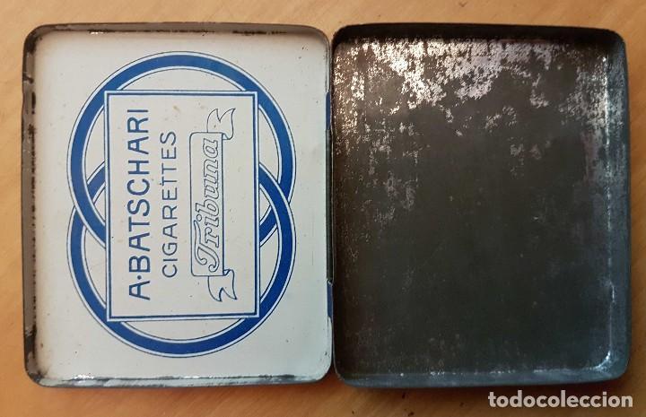 Cajas y cajitas metálicas: Cajita de cigarrillos de A. Batschari Tribuna - Foto 2 - 111460411
