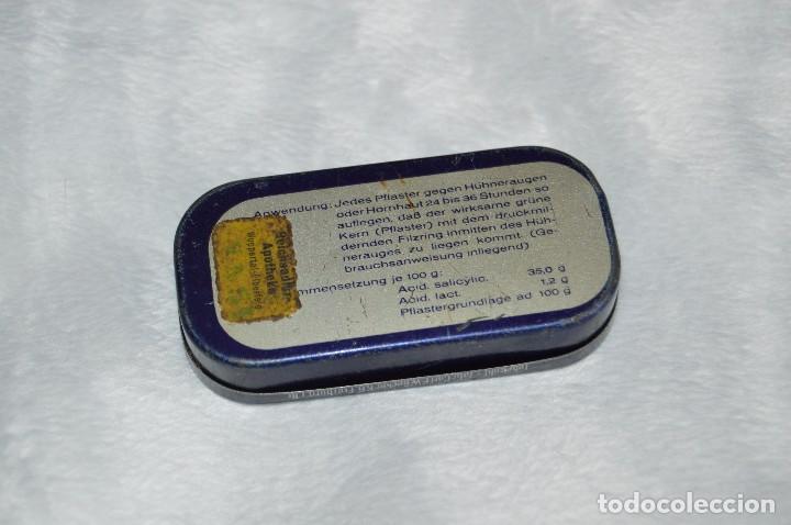 Cajas y cajitas metálicas: ANTIGUA CAJA DE HOJALATA - LEBEWOHL - HÚHNERAUGEN - PFLASTER - RARA - VINTAGE - HAZ OFERTA - Foto 6 - 111584791