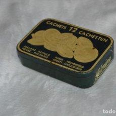 Cajas y cajitas metálicas: ANTIGUA CAJA DE HOJALATA - KALMINE - CACHETS 12 CACHETTEN - RARA - VINTAGE - HAZ OFERTA. Lote 111584947