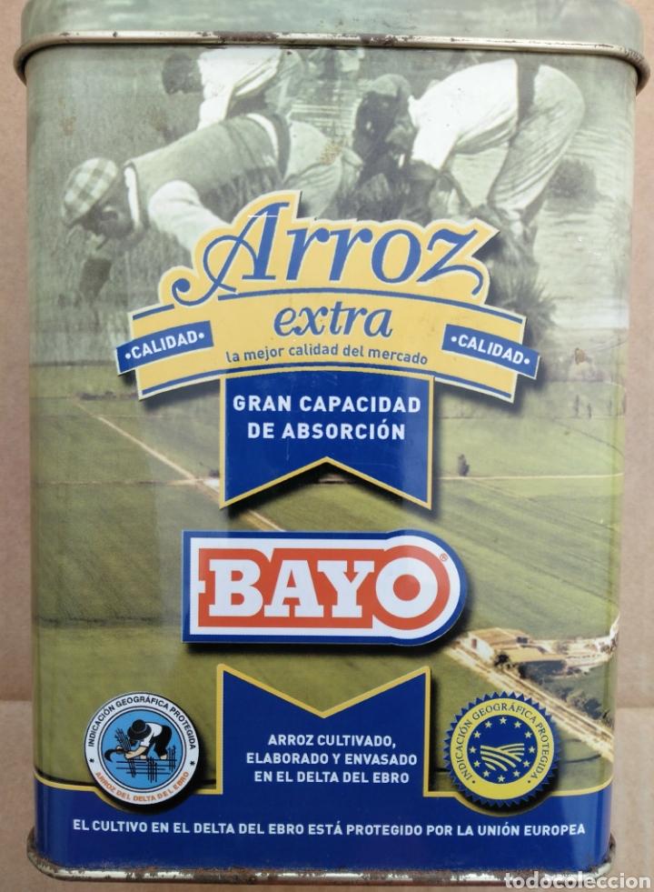 CAJA METÁLICA DE ARROZ EXTRA BAYO (Coleccionismo - Cajas y Cajitas Metálicas)
