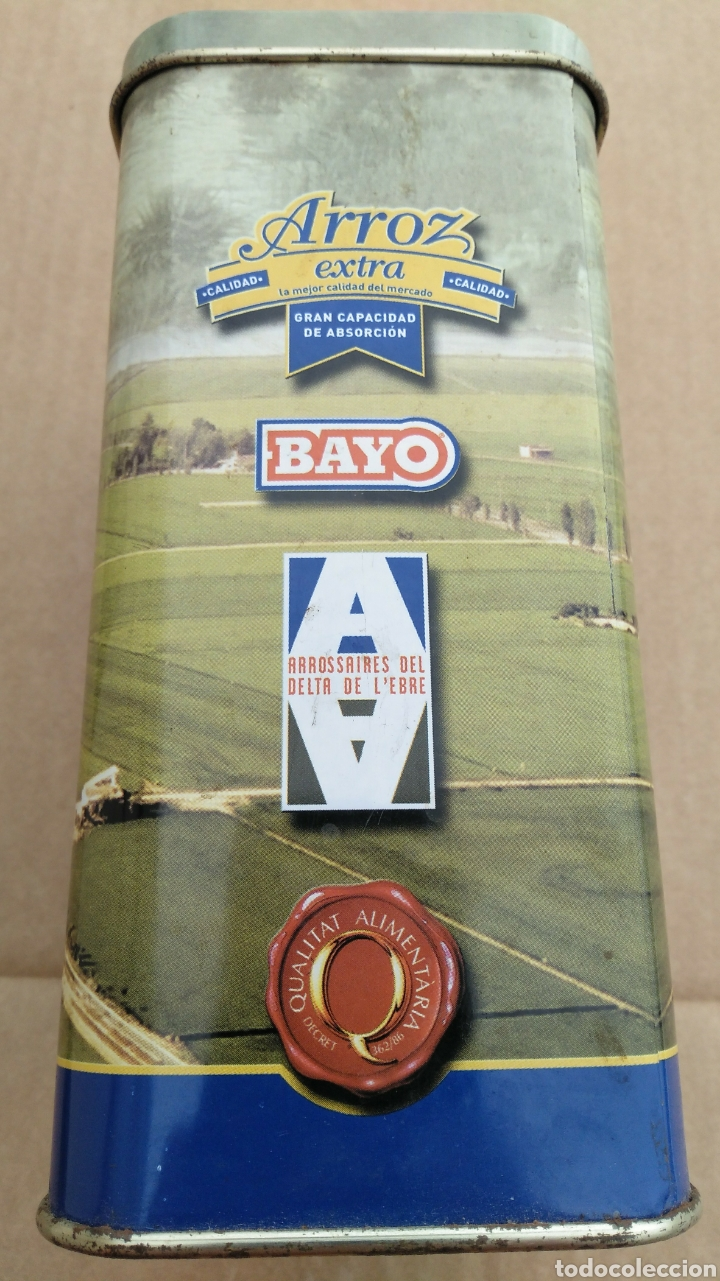 Cajas y cajitas metálicas: CAJA METÁLICA DE ARROZ EXTRA BAYO - Foto 2 - 111965624