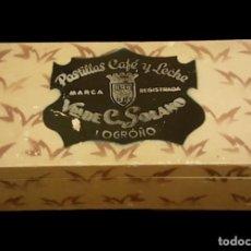 Cajas y cajitas metálicas: CAJA DE MADERA, VDA DE SOLANO, LOGROÑO, ÚNICA EN TODOCOLECCIÓN.. Lote 111967119