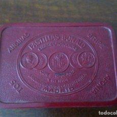 Cajas y cajitas metálicas: CAJA PASTILLAS BONALD. ANGINAS, GRIPE, AFONÍA, TOS.... Lote 112408015