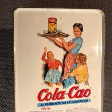 Cajas y cajitas metálicas: COLA CAO. BOTE DE HOJALATA HILOS. (A.1970?). Lote 112716156