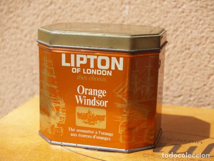 LATA TE LIPTON / ORANGE WINDSOR /CAPACIDAD 200 GRAMOS / (Coleccionismo - Cajas y Cajitas Metálicas)
