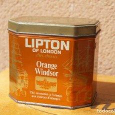 Cajas y cajitas metálicas: LATA TE LIPTON / ORANGE WINDSOR /CAPACIDAD 200 GRAMOS /. Lote 112740787