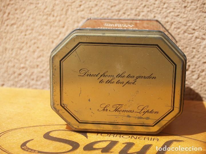 Cajas y cajitas metálicas: LATA TE LIPTON / ORANGE WINDSOR /CAPACIDAD 200 GRAMOS / - Foto 2 - 112740787