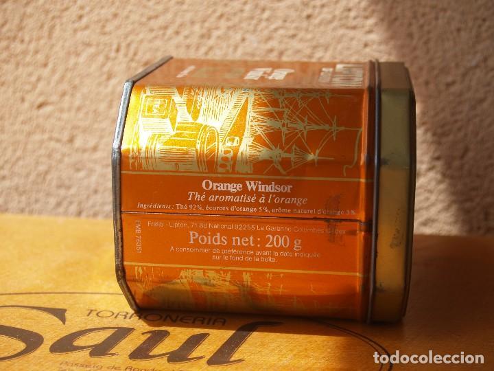 Cajas y cajitas metálicas: LATA TE LIPTON / ORANGE WINDSOR /CAPACIDAD 200 GRAMOS / - Foto 4 - 112740787
