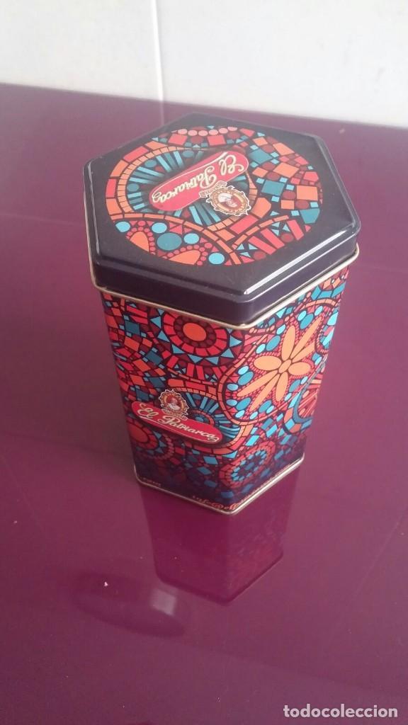CAJA METÁLICA - FORMA HEXAGONAL (Coleccionismo - Cajas y Cajitas Metálicas)
