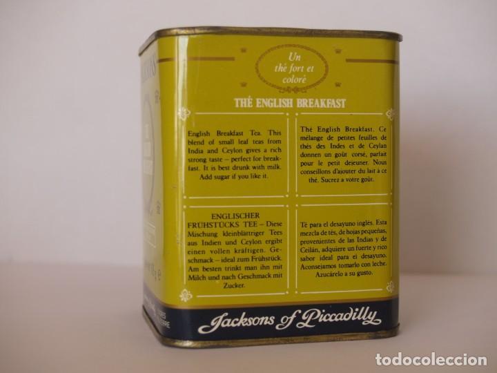 Cajas y cajitas metálicas: LATA DE TE JACKSONS OF PICCADILLY / CAPACIDAD 113 GRAMOS - Foto 2 - 112892475