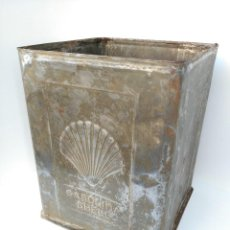 Cajas y cajitas metálicas: GRAN LATA SHELL GASOLINA (MUY RARA). Lote 112930191