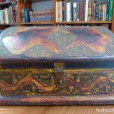 Cajas y cajitas metálicas: CAJA DE MADERA Y METAL. (17,5 X 6 CM). TIPO COFRE. Lote 112978467