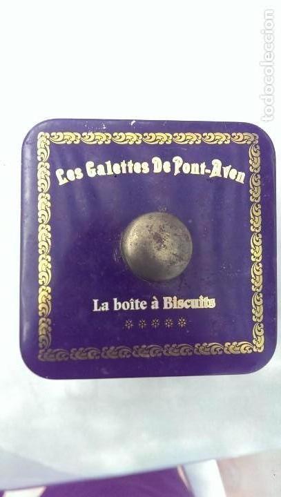 Cajas y cajitas metálicas: Preciosa caja galletas francesa con cuadros pintados litografiado, Bernard Ravalle - Foto 3 - 113042659