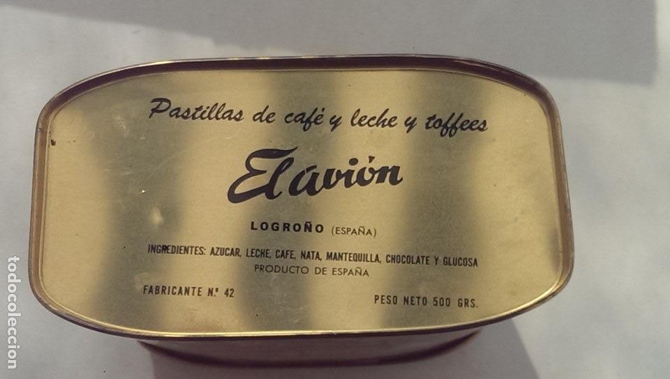 Cajas y cajitas metálicas: antigua caja caramelos el avion Logroño con litografias - Foto 3 - 113044247