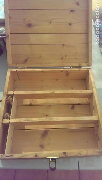 Cajas y cajitas metálicas: antigua caja madera de vino 3 botellas, como coleccion, decoracion, bicicletas varillas - Foto 2 - 113044731