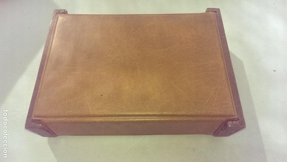 Cajas y cajitas metálicas: antigua caja de marca Gal Dux en madera y cuero coleccion - Foto 2 - 113051943