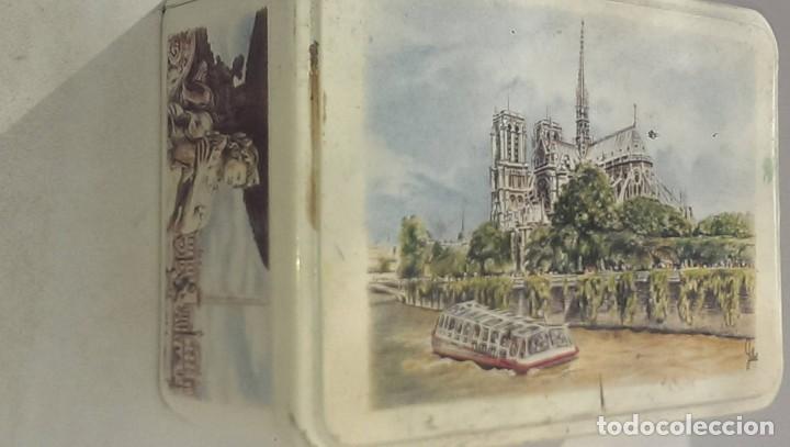 Cajas y cajitas metálicas: antigua caja galletas de Bretaña Francia, Rio Sena, Metropolitan - Foto 2 - 113053895
