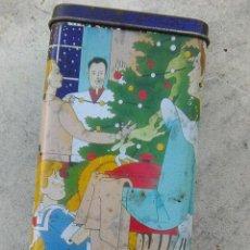 Cajas y cajitas metálicas: LATA CAJA METALICA CAFÉS LA ESTRELLA - CONMEMORATIVA NAVIDAD 1991. Lote 113224939