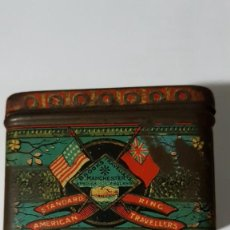 Cajas y cajitas metálicas: ANTIGUA CAJA METÁLICA - BROOKS & DOXEY - MANCHESTER - ENGLAND - TRAVELLERS. Lote 179188583