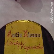 Cajas y cajitas metálicas: ANTIGUA CAJA LITOGRAFIADA ANTIU XIXONA JIJONA ORIGINAL COLECCION. Lote 113384303