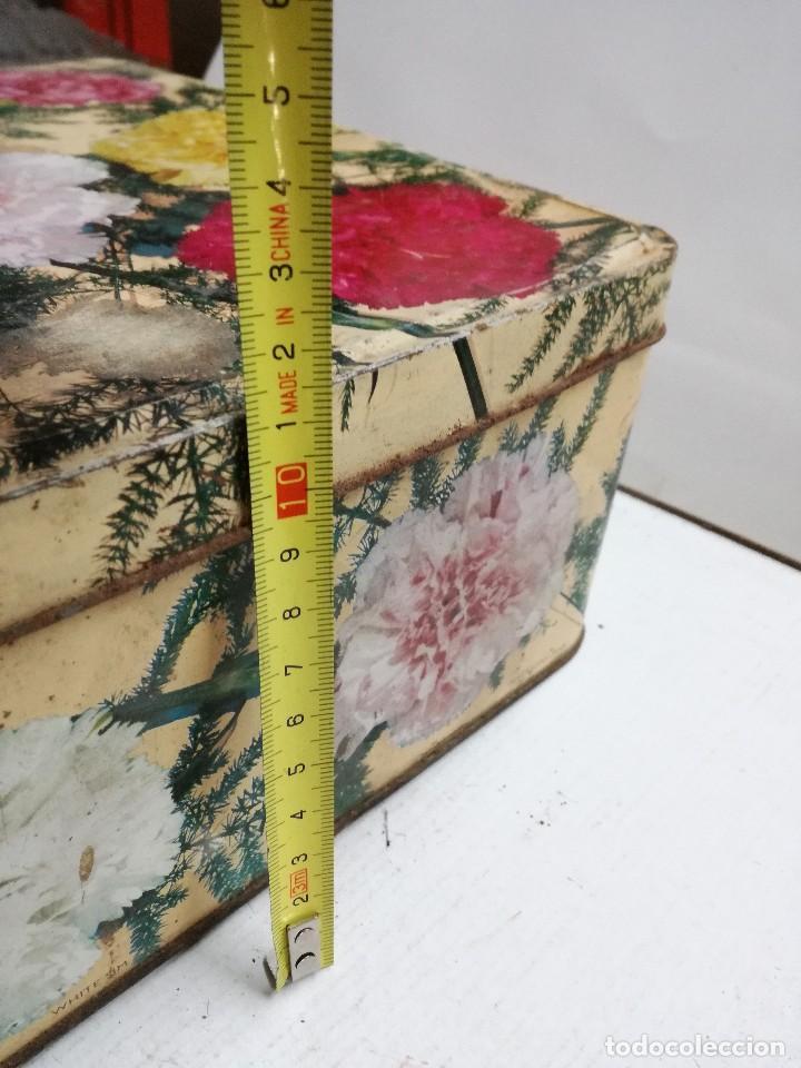 Cajas y cajitas metálicas: CAJA DE METAL LITOGRAFIADO. CLAVELES.INGLESA - Foto 8 - 113701439